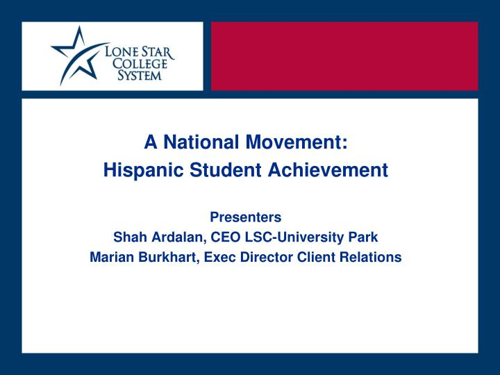 A National Movement: