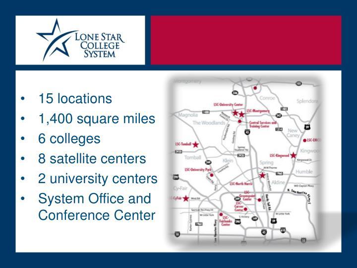 15 locations