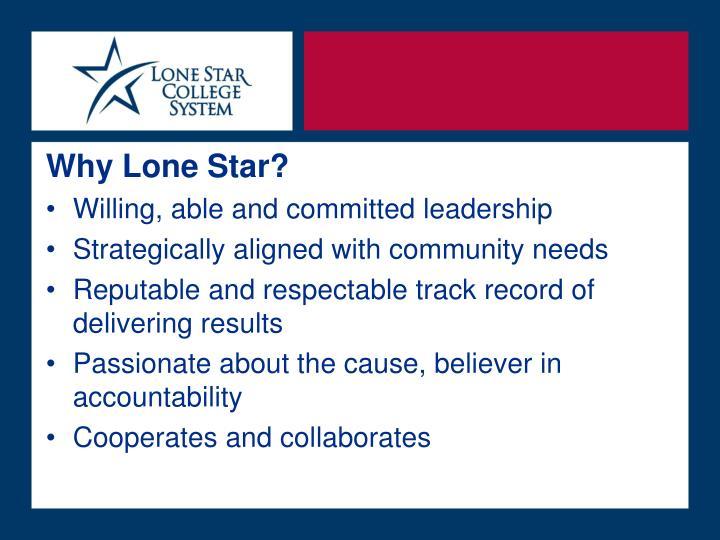 Why Lone Star?