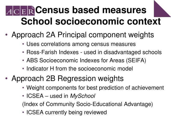 Census based measures