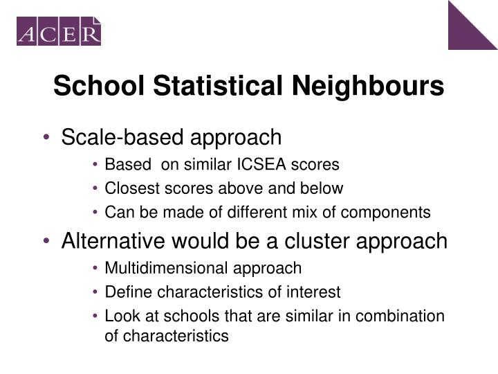 School Statistical Neighbours