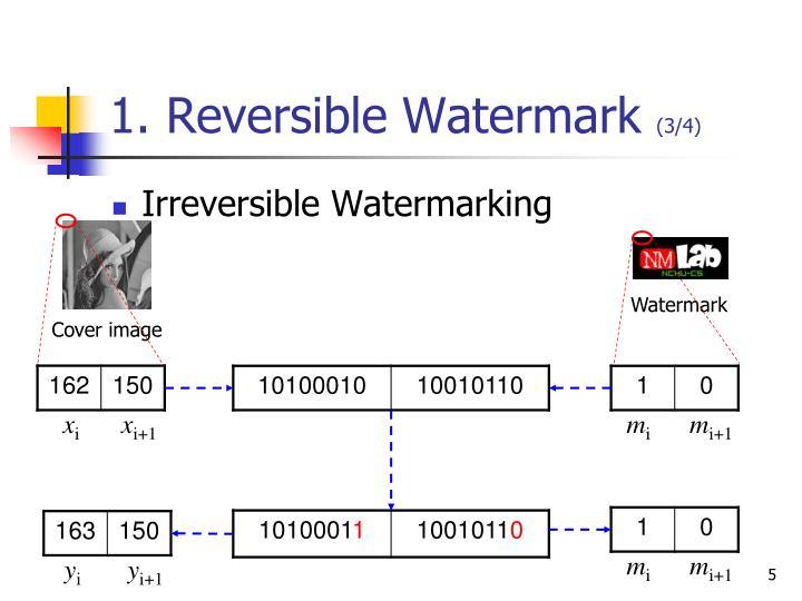 1. Reversible Watermark