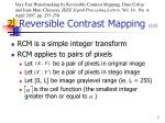 2 reversible contrast mapping 1 2