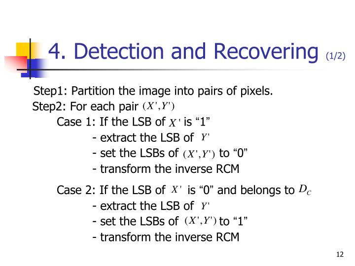 4. Detection and Recovering