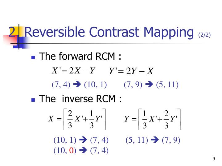 2. Reversible Contrast Mapping