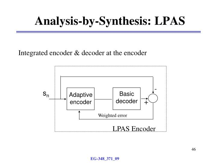 Analysis-by-Synthesis: LPAS