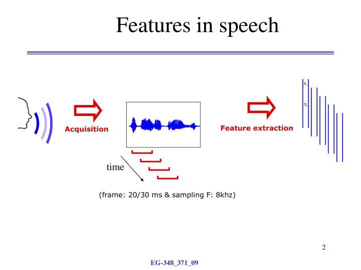 Features in speech