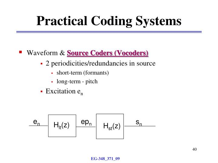 Practical Coding Systems