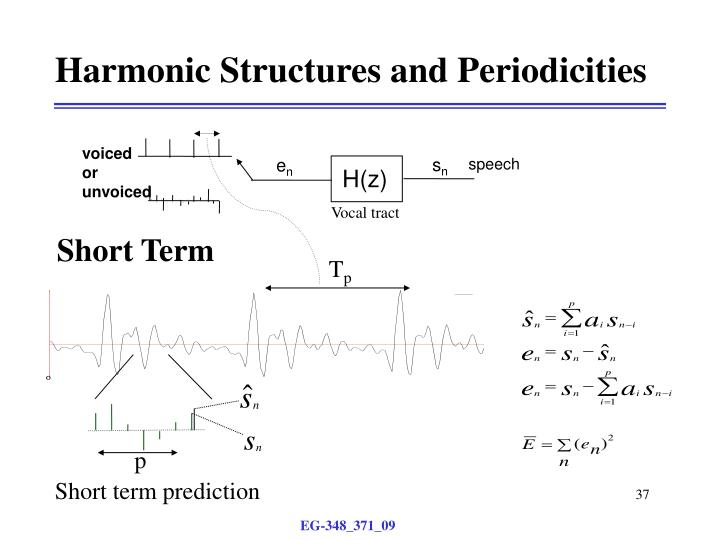 Harmonic Structures and Periodicities