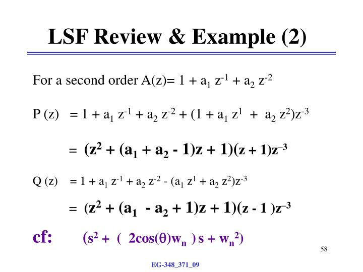 LSF Review & Example (2)