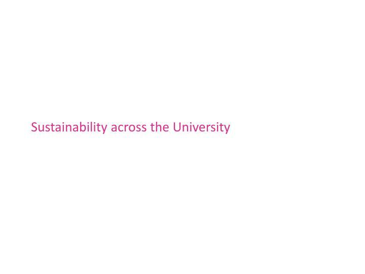 Sustainability across the University