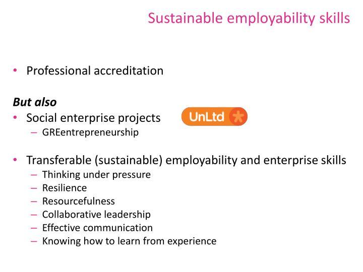 Sustainable employability skills