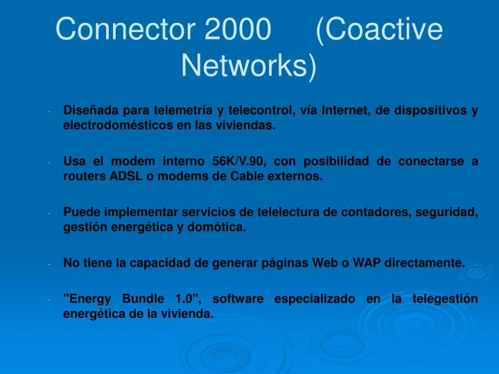 Connector 2000     (Coactive Networks)