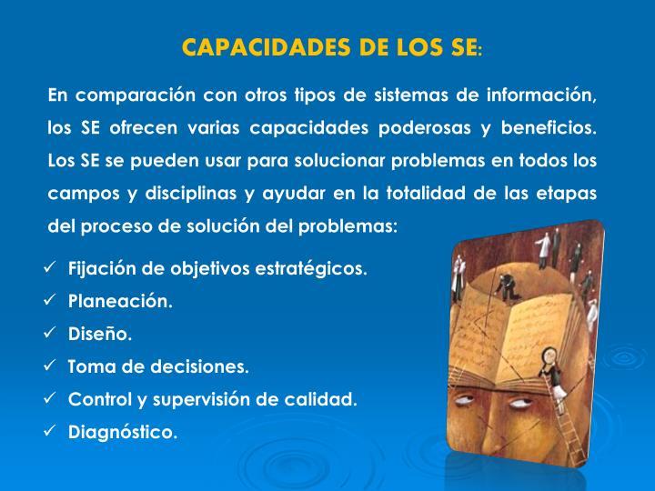 CAPACIDADES DE LOS SE: