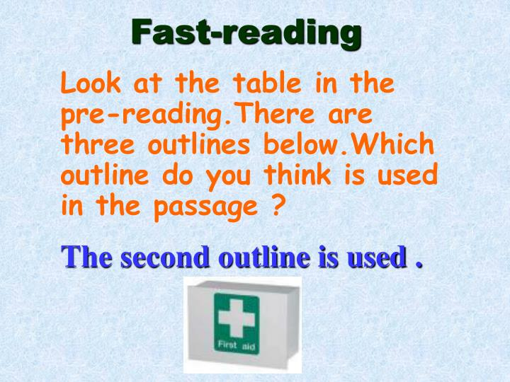 Fast-reading