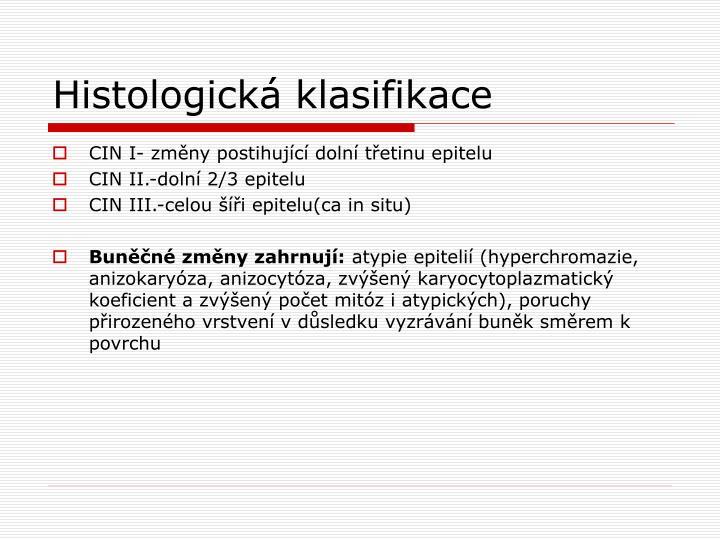 Histologická klasifikace