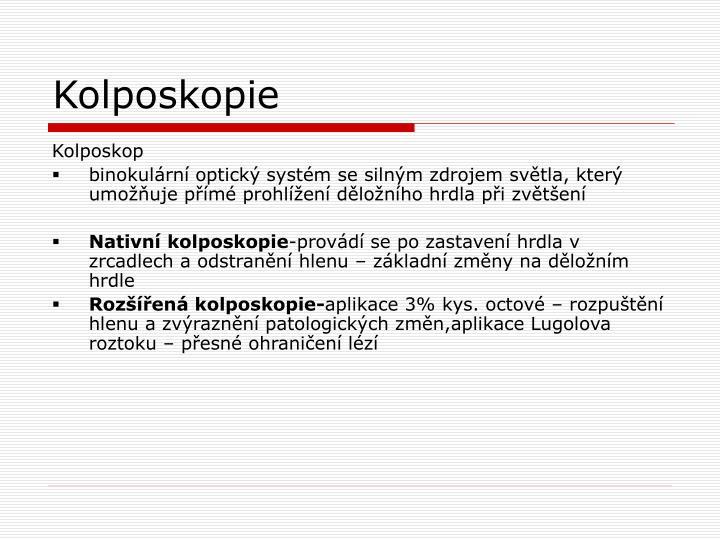 Kolposkopie