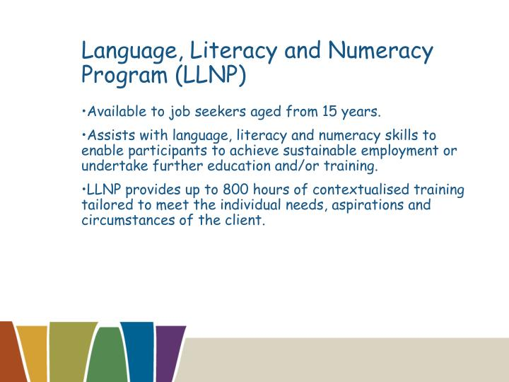 Language, Literacy and Numeracy Program (LLNP)