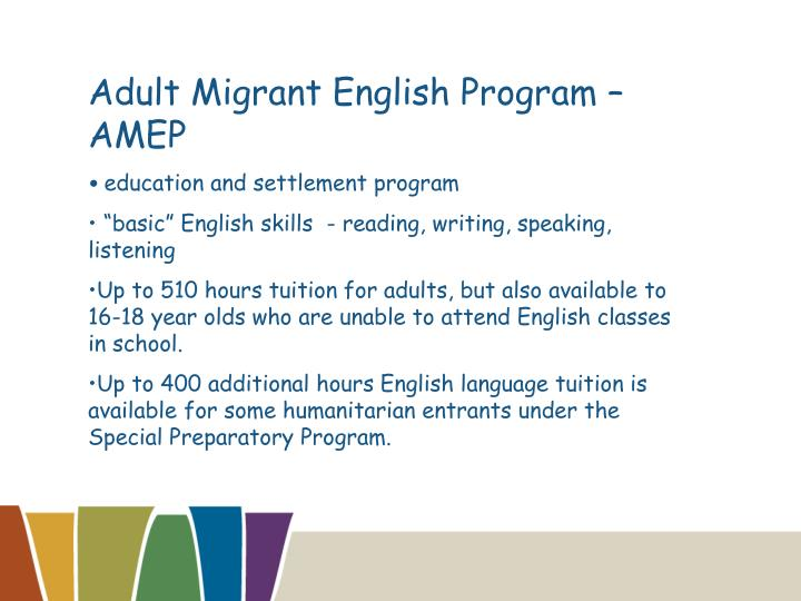 Adult Migrant English Program – AMEP