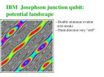 ibm josephson junction qubit potential landscape