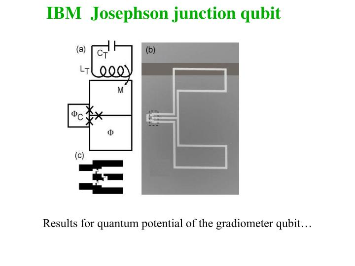 IBM  Josephson junction qubit