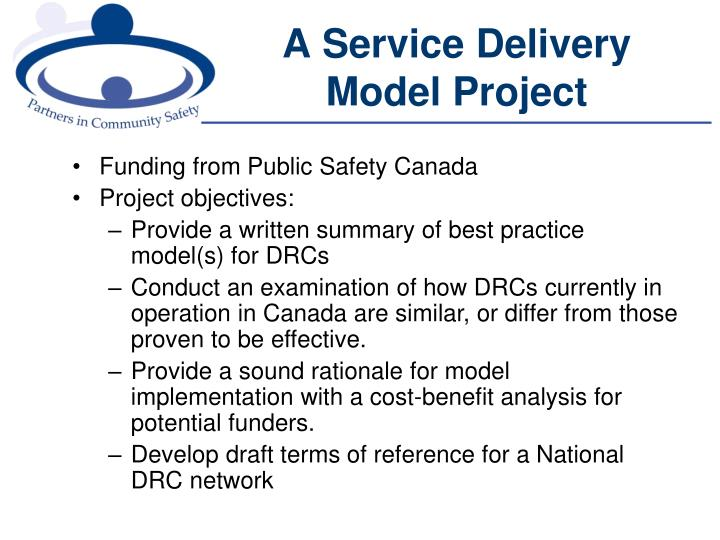 A Service Delivery Model Project