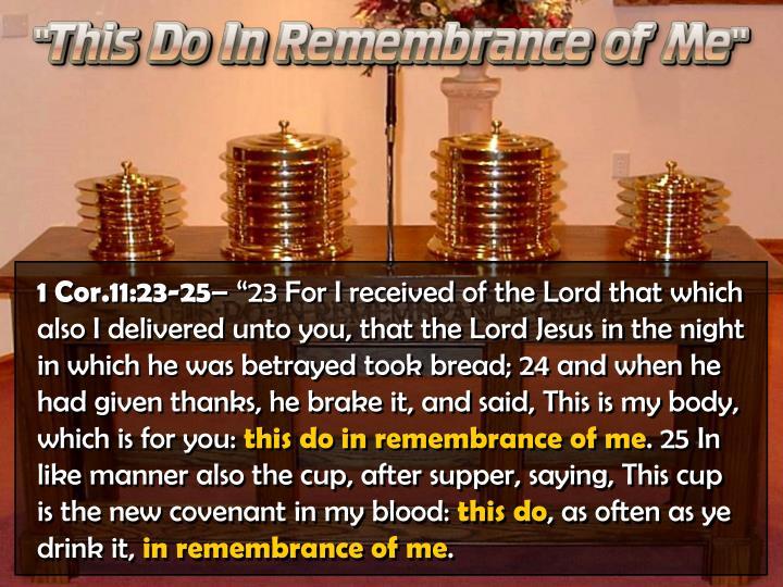 1 Cor.11:23-25