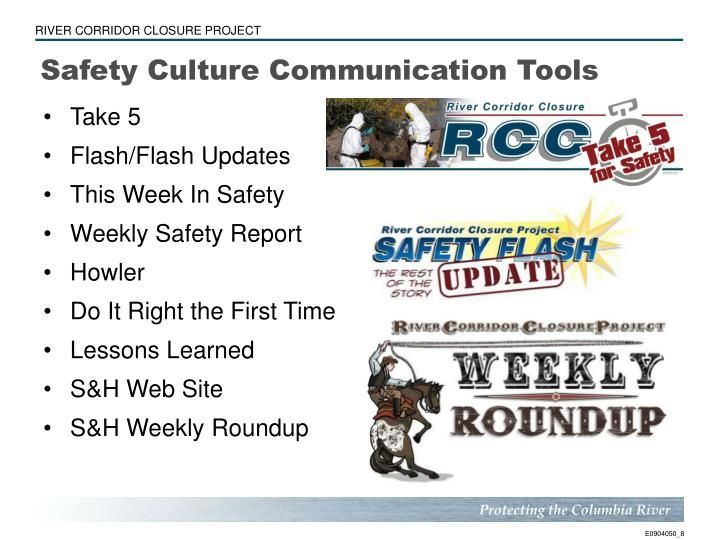 Safety Culture Communication Tools