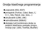 o rodja klasi nega programiranja