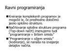 ravni programiranja
