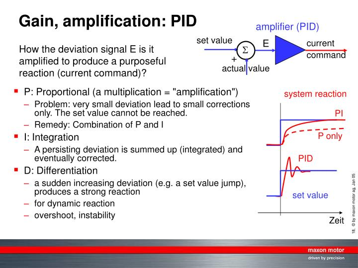 Gain, amplification: PID