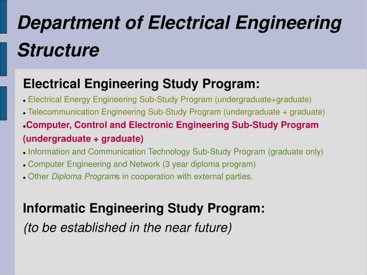 Department of Electrical Engineering Structure