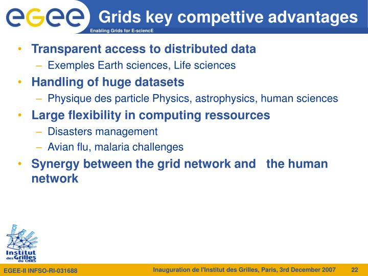 Grids key compettive advantages