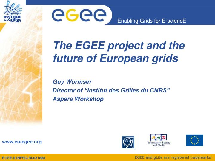 The egee project and the future of european grids