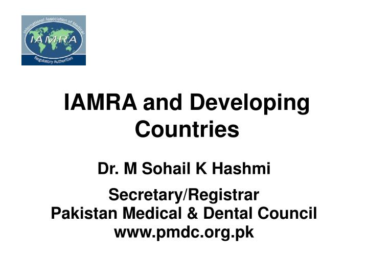 Iamra and developing countries