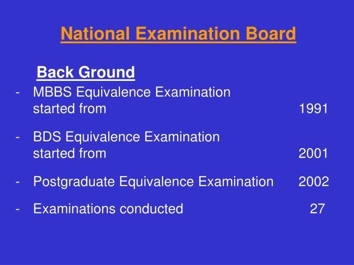 National Examination Board