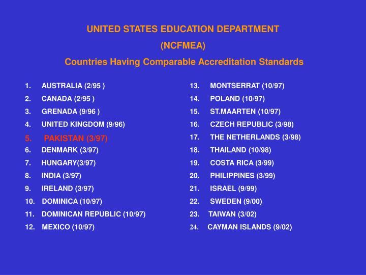 UNITED STATES EDUCATION DEPARTMENT