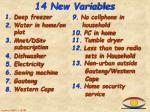 14 new variables