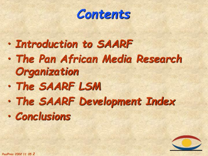 Introduction to SAARF