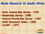 media research in south africa
