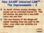 new saarf universal lsm the improvements 3