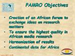 pamro objectives