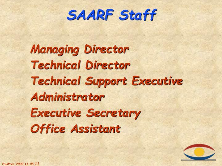 SAARF Staff