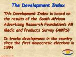 the development index