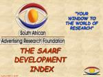 the saarf development index