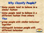 why classify people