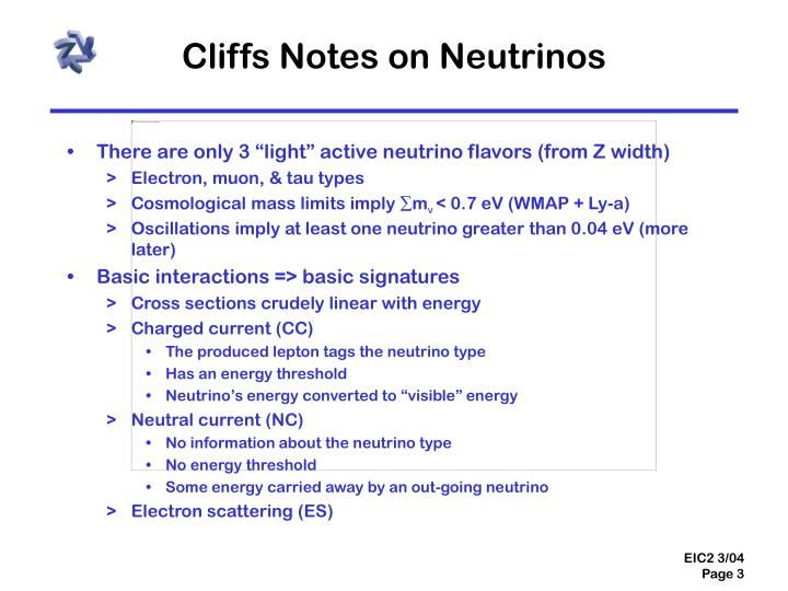 Cliffs Notes on Neutrinos
