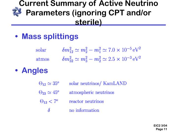 Current Summary of Active Neutrino Parameters (ignoring CPT and/or sterile)