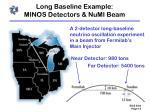 long baseline example minos detectors numi beam