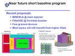 near future short baseline program
